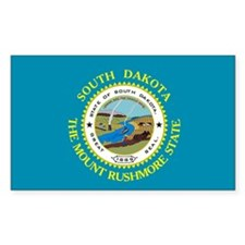 South Dakota Flag Rectangle Decal