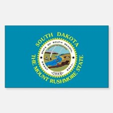 South Dakota Flag Rectangle Decal
