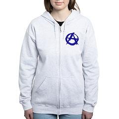 Anarchy-Blue Zip Hoodie