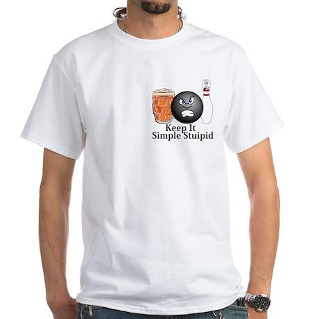 Keep It Simple Stupid Logo 10 White T-Shirt Design