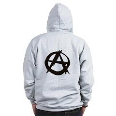 Anarchy-Blk-Whte Zip Hoodie