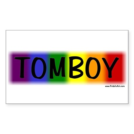 Tomboy Gay Pride Sticker (Rect.)