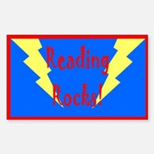Reading Rocks! Bolt Rectangle Decal