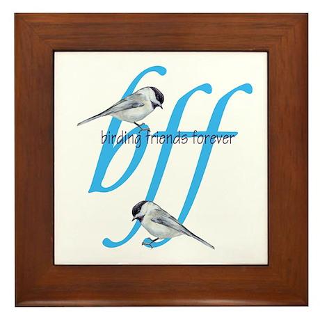 birding friends forever Framed Tile