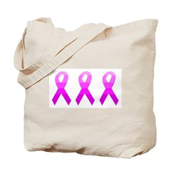 Breast Cancer Pink Ribbon Rai Tote Bag
