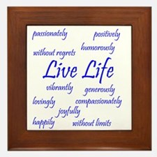 Live Life Framed Tile