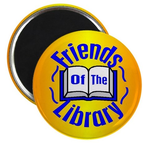 """Friends of the Library 2.25"""" Magnet (10 pack)"""