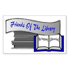 Friends of the Library Rectangle Decal