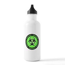 Green & Black Biohazard Water Bottle