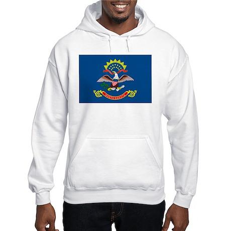 North Dakota State Flag Hooded Sweatshirt