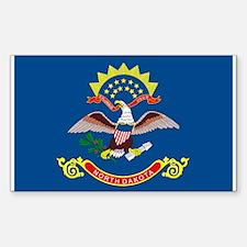 North Dakota State Flag Rectangle Decal