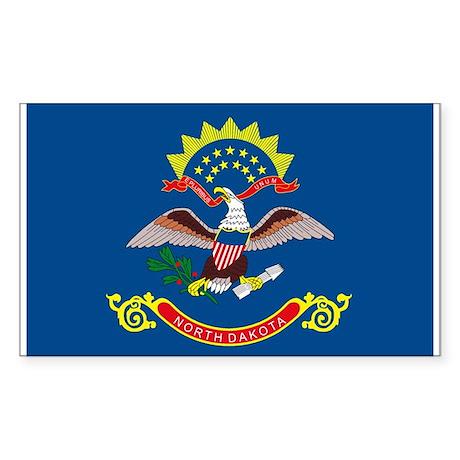 North Dakota State Flag Rectangle Sticker