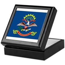 North Dakota State Flag Keepsake Box