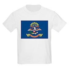 North Dakota State Flag Kids T-Shirt