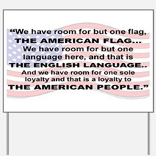 WE HAVE ROOM FOR BUT ONE FLAG...