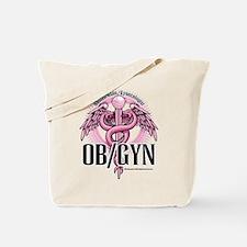 OB/GYN Caduceus Pink Tote Bag