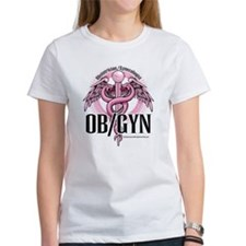 OB/GYN Caduceus Pink Tee