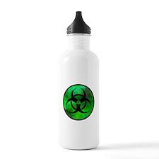 Green Fog Biohazard Symbol Water Bottle