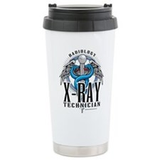 X-Ray Tech Caduceus Blue Travel Mug