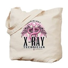 X-Ray Tech Caduceus Pink Tote Bag