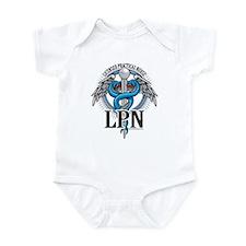 LPN Caduceus Blue Infant Bodysuit