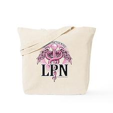 LPN Caduceus Pink Tote Bag