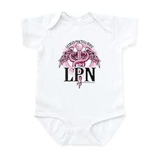 LPN Caduceus Pink Infant Bodysuit