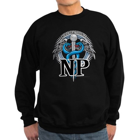 Nurse Practitioner Caduceus B Sweatshirt (dark)