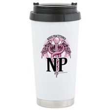 Nurse Practitioner Caduceus P Travel Mug