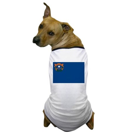 Nevada State Flag Dog T-Shirt