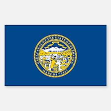 Nebraska Flag Rectangle Decal