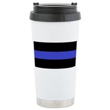 Police Officer Thin Blue Line Travel Mug