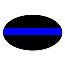 Police Officer Thin Blue Line Decal