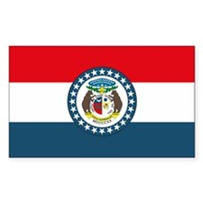 Missouri State Flag Rectangle Decal