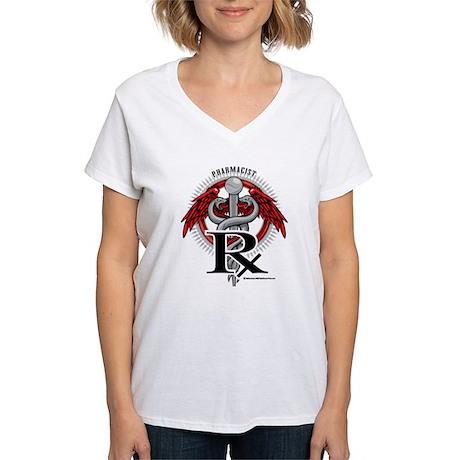 Pharmacist Caduceus Women's V-Neck T-Shirt