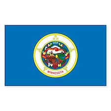 Minnesota State Flag Rectangle Decal
