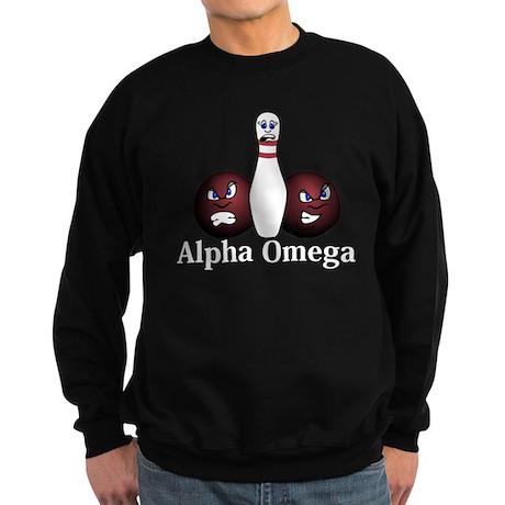 Apha Omega Logo 8 Sweatshirt (dark) Design Front C
