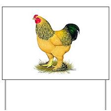 Brahma Buff Rooster Yard Sign