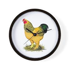 Brahma Buff Rooster Wall Clock
