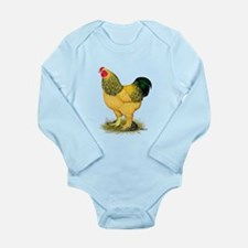Brahma Buff Rooster Long Sleeve Infant Bodysuit