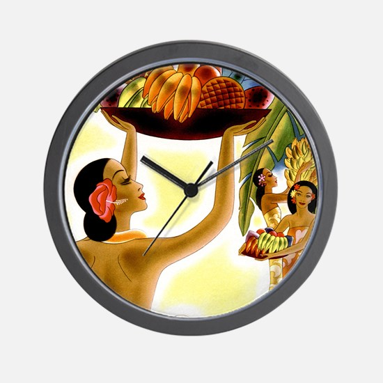 Frank Macintosh Fruit Basket Wall Clock