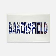 Bakersfield Stars & Strips Rectangle Magnet