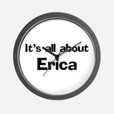 It's all about Erica Wall Clock