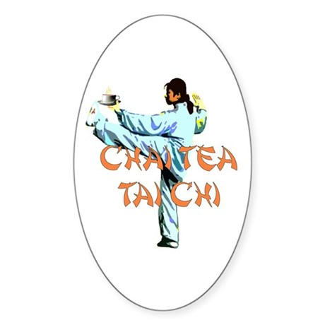 Chai Tea Tai Chi Sticker (Oval)