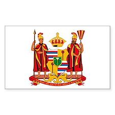 Hawaii Coat of Arms Rectangle Decal