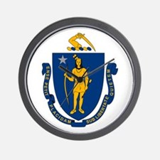 Massachusetts Flag Wall Clock
