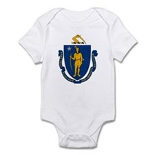 Massachusetts Flag Infant Creeper