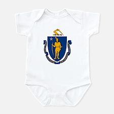 Massachusetts Flag Infant Creeper