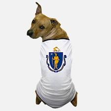 Massachusetts Flag Dog T-Shirt