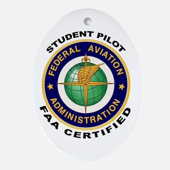 Student Pilot Ornament (Oval)